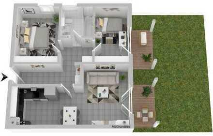 Schöne 3 Zimmer 63 m² Erdgeschosswohnung mit Garten nähe Audi
