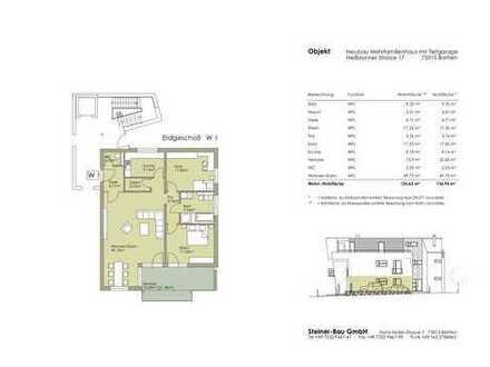 Moderne 3 Zimmer Wohnung mit Terrasse
