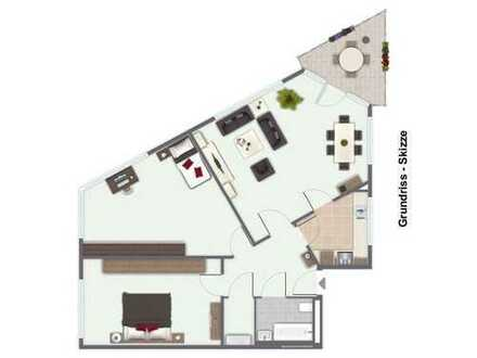 Seniorengerechte 3-ZKB-Wohnung in Top-Lage v. Ilvesheim - Barrierefrei -