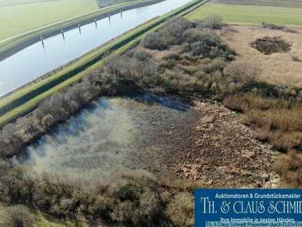 4,9 ha Freizeitgrundstück mit Biotop direkt an der Hunte, nur 7 km bis OL