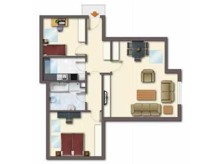 Provisionsfreie Top sanierte Dachgeschosswohnung im Mehrfamilienhaus