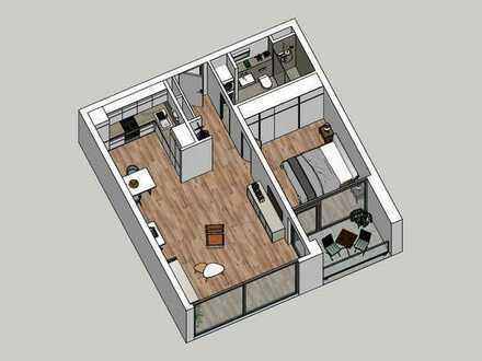 Hochwertige Neubau- 2-Zimmer-Wohnung in Karlsruhe