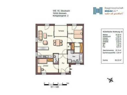3-Zimmer-Penthouse-Wohnung
