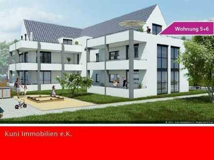 Sonnige 2 bis 3-Zimmer-NEUBAU-Wohnung mit großer Süd-Dachterrasse.