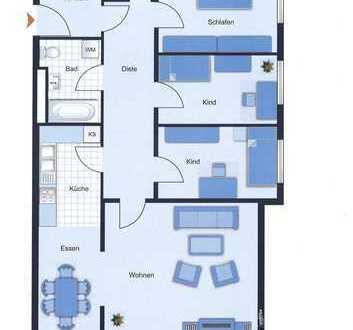 Reine Kapitalanlage - großzügige Vierzimmerwohnung mit Südterrasse, ruhig gelegen in FFM-Niederrad