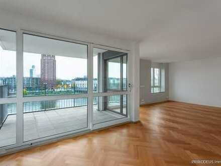 Main-Riverside: 4,5-Zimmer-Maisonette-Wohnung mit 2 Balkonen im Ostend