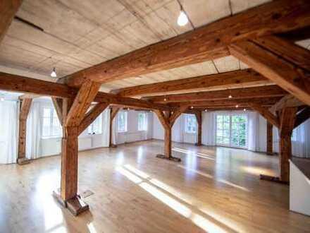 Lichtdurchflutete Atelierwohnung in historischem Kornspeicher