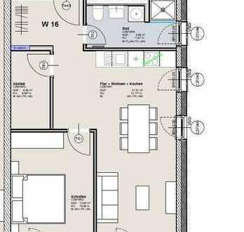 Gepflegte Wohnung mit zwei Zimmern und EBK in Erbach