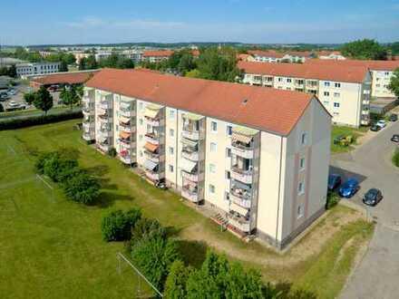 Schöne 2 2/2 Raumwohnung in Wolgast-Süd mit Balkon und Dusche