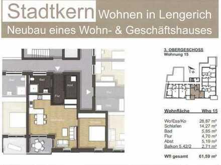 Erstbezug mit Balkon: barrierefreie freundliche 2-Zimmer-Wohnung in Lengerich