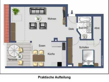 Gepflegte 2,5-Zimmer-DG-Wohnung mit einer Terrasse in Sinsheim