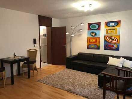 Ruhiges 2-Zimmer-Apartment, möbliert, mit großzügiger Terrasse