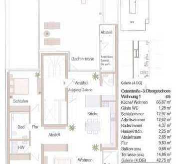 Architektur der Moderne - Wohnen am Ostertor - Exklusives Penthouse über zwei Ebenen