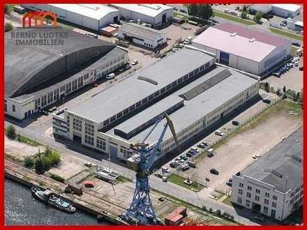 Industriehalle in TOP-Lage am Westhafen von Wismar!