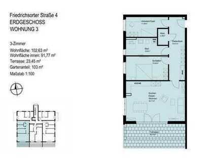 barrierearme 3-Zimmer-Wohnung mit Tageslichtbad und Abstellraum