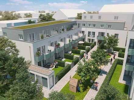 Das Non-Plus-Ultra: 4-Zi.-Wohnung 2 Terrassen, Kochbereich mit Kochinsel und Tageslichtbad
