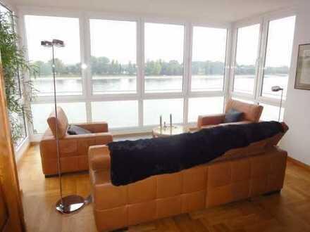 Teilmöblierte Luxuswohnung mit Balkon und Panoramablick auf Köln !