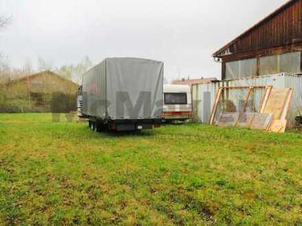 3.947 m² großes Gewerbegrundstück mit Lagerhalle im Landkreis Augsburg!