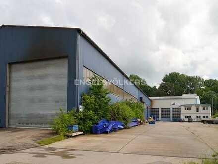 Lagerhallen mit Büro im Industriegebiet