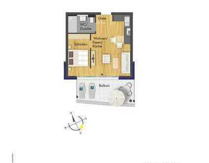 Traumhafte 1- Zimmer Wohnung im 2.OG ( Haus 1, Whg. 8 )