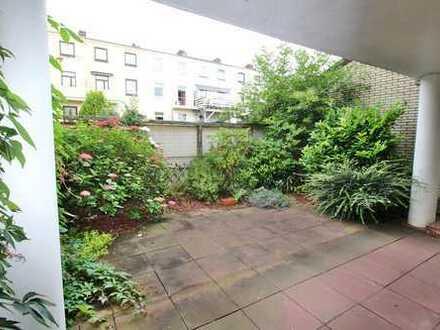 Singlewohnung nähe Flughafen mit Terrassengarten **