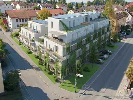 Neubau-Gewerbefläche (Verkauf/Büro/Praxis/Physio o.ä.) in frequentierter Lage am Klinikum Traunstein