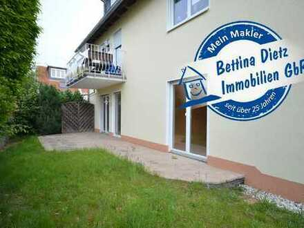DIETZ: 3 Zimmer Terrassenwohnung mit Grünfläche in ruhiger Dieburger Wohnlage an einem Wendehammer!