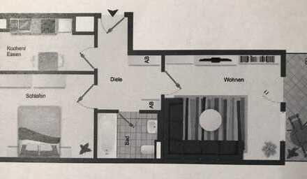 Gepflegte 2-Zimmer-Erdgeschosswohnung mit Terrasse in Türkheim