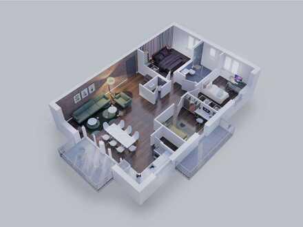 Lichtdurchflutete 4-Zimmer Wohnung mit 2 Balkonen