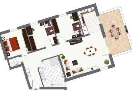 4-Zimmer-Wohnung mit Südbalkon