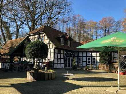 Restaurant in alter Wassermühle im schönen Nachtigallental