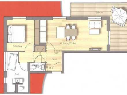 Moderne sonnige 2-Zimmer-Wohnung mit Balkon in Geltendorf