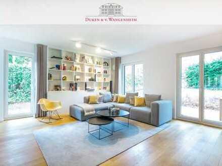 """""""Haus im Haus"""". Moderne 5,5-Zimmer-Gartenwohnung.  Platz für die ganze Familie."""
