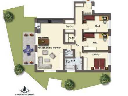 4-Zimmer-Erdgeschosswohnung am Perlbach