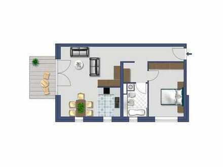 Schön geschnittene 2-Zimmerwohnung mit EBK und Terrasse