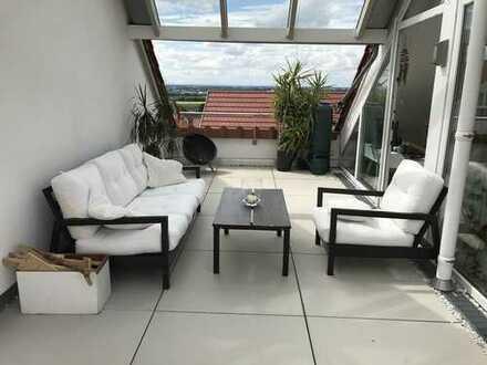 Außergewöhnliche moderne Doppelhaushälfte mit EBK und traumhaftem Fernblick in Hirschberg