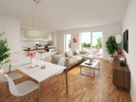 Familienfreundlich im Grünen: Optimale 3-Zimmer-Penthousewohnung mit Dachterrasse und 2 Bädern