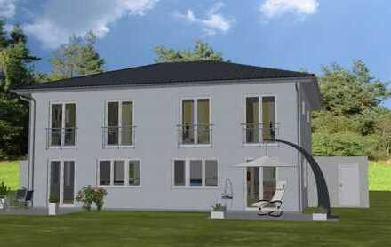 Neubau eines Zweifamilienhauses im Doppelhausstil