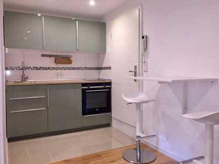 Komplett möblierte Wohnung, vollständig renovierte 1-Zimmer-Wohnung in Schwieberdingen