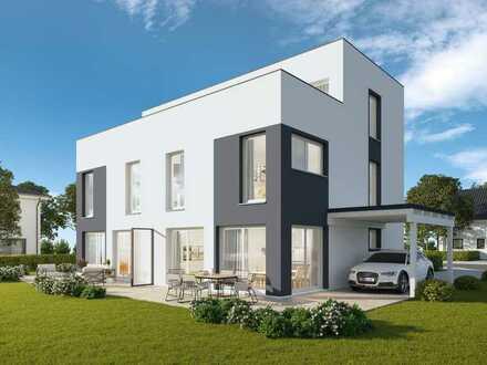 Exclusive DHH mit Dachterrasse und Studio im Bauhausstil