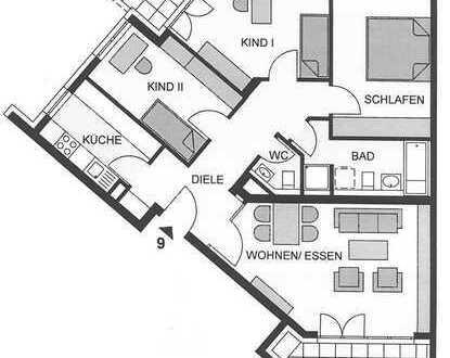 Vermietete 4-Zimmer-Wohnung in Plochingen. Einzelbox in der TG & kleiner Garten.