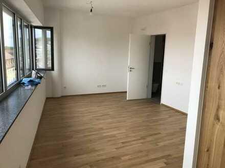 Wohnen im YPSILON: Stilvolles 1-Zimmer-Apartment mit Einbauküche und Blick auf das Ulmer Münster