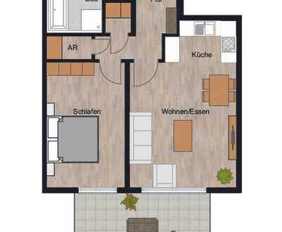 RESERVIERT!!! Herrliche 2-Zimmer Wohnung mit riesigem Garten und sonniger Terrasse!!!