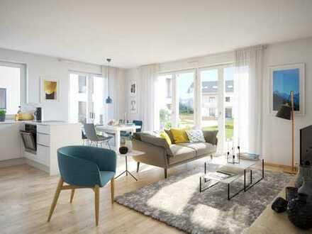 3-Zimmer-Erdgeschosswohnung mit 2 Bädern und 2 Terrassen in schöner Umgebung
