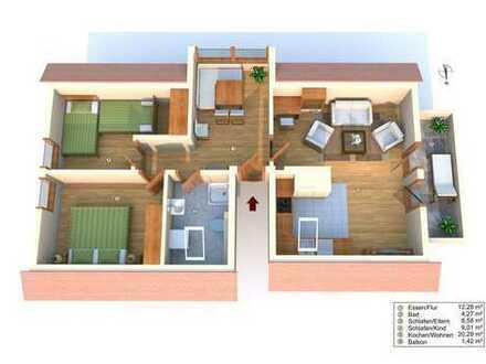 OPEN-HOUSE Sa, den 29.06.2019 von 11-13 Uhr Anmeldung erforderlich  3 Zi. Wohnung im Dachgeschoss