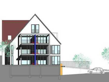 Moderner Grundriss : 4,5 Zimmer- Moisonettewohnung mit Balkon und Empore ( Wohnung Nr. 6)
