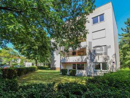 Helle 3-Zi.-Whg. mit großem Sonnenbalkon am grünen Stadtrand - Gestaltungspotenzial