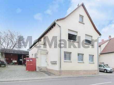 Voll vermietetes MFH mit 3 Whg. und Gewerbehalle in zentraler Lage von Schifferstadt bei Mannheim