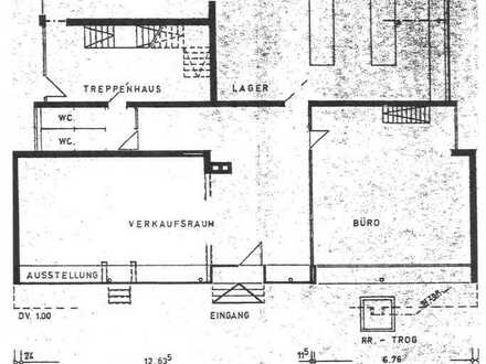 Repräsentative Büro/Geschäftsräume mit großer Schaufensterfront / teilbar (vielseitig verwendbar)