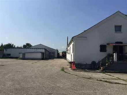 Vielseitig nutzbares Grundstück mit Lagerhalle, Wohn-/Bürogebäude, PKW u. LKW Garagen